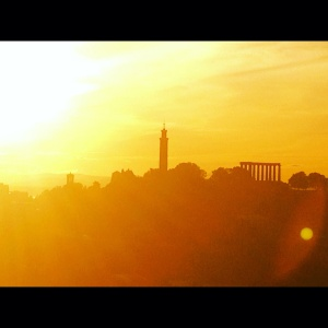 calton hill from arthurseat