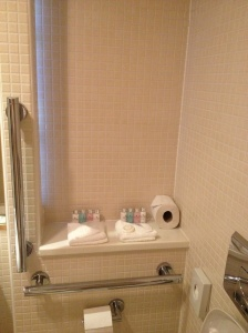 Classic bathroom with individual toiletries