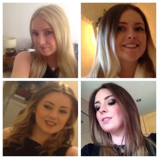 Top left - my hair 1 yr ago, top right - before Medusa make over,  bottom left and right - after photos