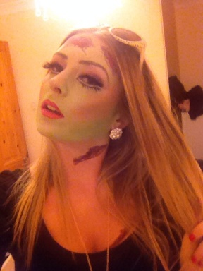 Zombie Barbie face paint