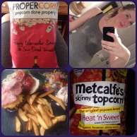 Flavoured pop corn hot yoga bikram burgers