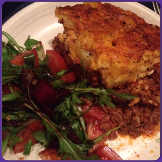 Low fat Greek Moussaka