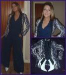 H&M tux, Love navy jumpsuit,