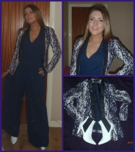 H&M tux, Love navy jumpsuit,